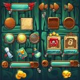 Botones de los iconos del GUI de los chamanes de la selva fijados