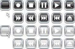 Botones de los media. ilustración del vector