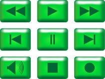 botones de los multimedia Fotos de archivo