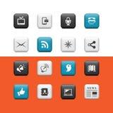 Botones de los multimedia Imagenes de archivo