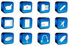 Botones de los multimedia Fotos de archivo libres de regalías