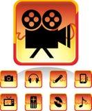 Botones de los multimedia Fotografía de archivo