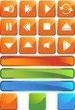 Botones de los multimedia - cuadrado Imagen de archivo