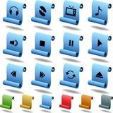 Botones de los multimedia - desfile Imagen de archivo
