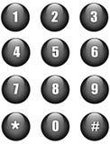 Botones de los números Fotos de archivo