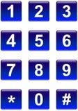 Botones de los números Imagen de archivo libre de regalías