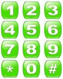 Botones de los números Fotografía de archivo