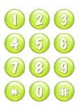 Botones de los números Fotografía de archivo libre de regalías