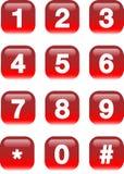 Botones de los números Imágenes de archivo libres de regalías