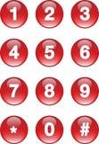 Botones de los números Foto de archivo
