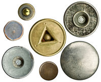 Botones de los pantalones vaqueros Foto de archivo