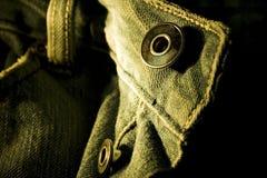 Botones de los pantalones vaqueros Imagenes de archivo