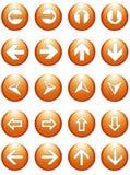 Botones de los símbolos de la flecha del asunto Fotografía de archivo libre de regalías