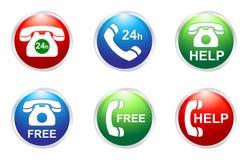 Botones de los servicios de teléfono Fotografía de archivo libre de regalías