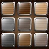 Botones de madera Fotos de archivo libres de regalías