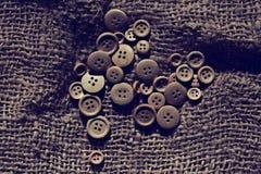 Botones de madera del fondo Imágenes de archivo libres de regalías