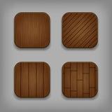 Botones de madera del vector fijados libre illustration