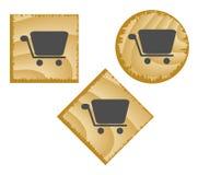 Botones de madera del Web. Fotografía de archivo libre de regalías