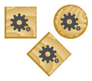 Botones de madera del Web. Fotos de archivo libres de regalías