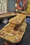 Botones de madera para la venta Fotografía de archivo