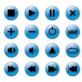 Botones de Media Player Imagen de archivo
