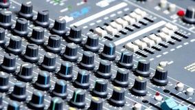 Botones de mezcla audios de la consola fotografía de archivo