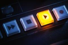 Botones de mezcla de la consola fotografía de archivo libre de regalías