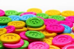 Botones de muchos colores Imagen de archivo libre de regalías