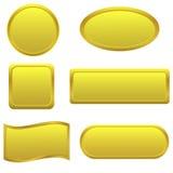 Botones de oro Fotografía de archivo libre de regalías