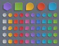 Botones de papel coloridos Fotos de archivo