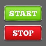 Botones de paro de comienzo Imagen de archivo libre de regalías