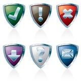 Botones de plata de Triangl Foto de archivo