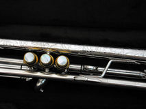 Botones de plata del dedo de la trompeta Fotos de archivo