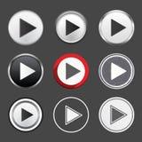 Botones de reproducción Fotografía de archivo