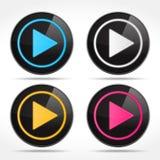 Botones de reproducción Imágenes de archivo libres de regalías