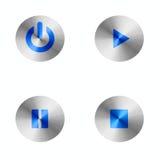 Botones de reproducción de la música Imágenes de archivo libres de regalías