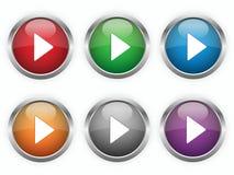 Botones de reproducción del Web ilustración del vector