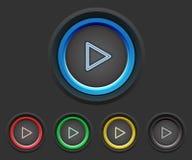 Botones de reproducción video Fotos de archivo