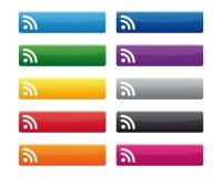 Botones de RSS ilustración del vector