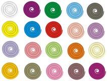 Botones de Spiraly Fotos de archivo libres de regalías