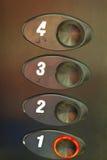 Botones de un elevador Foto de archivo