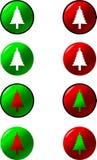 Botones del árbol de navidad Foto de archivo