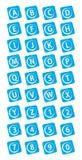 Botones del alfabeto y de los números Foto de archivo libre de regalías