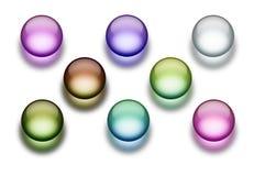 Botones del Aqua Imagen de archivo libre de regalías