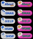 Botones del Aqua Fotografía de archivo libre de regalías