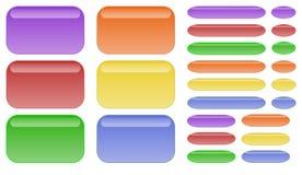 Botones del arco iris   stock de ilustración
