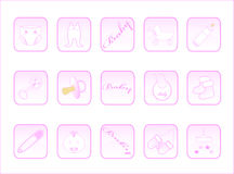 Botones del bebé Fotografía de archivo