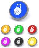 Botones del candado Foto de archivo libre de regalías