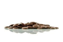 Botones del chocolate, reflejados Imagen de archivo libre de regalías