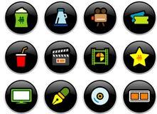 Botones del cine Imagenes de archivo